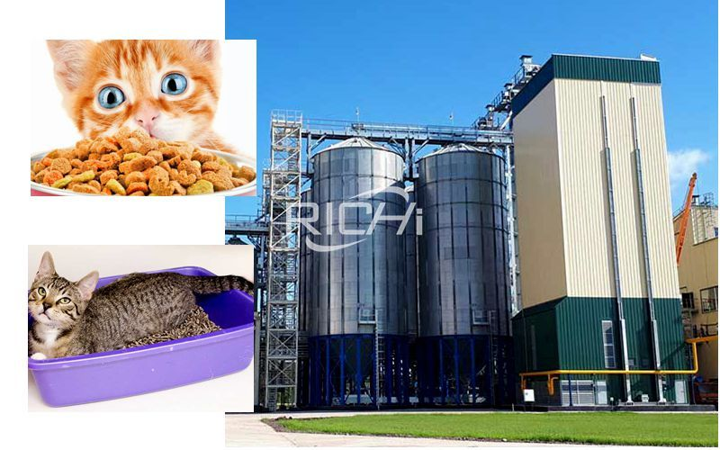 10 T/h Pet Food Cat Litter Pellet Production Line Project