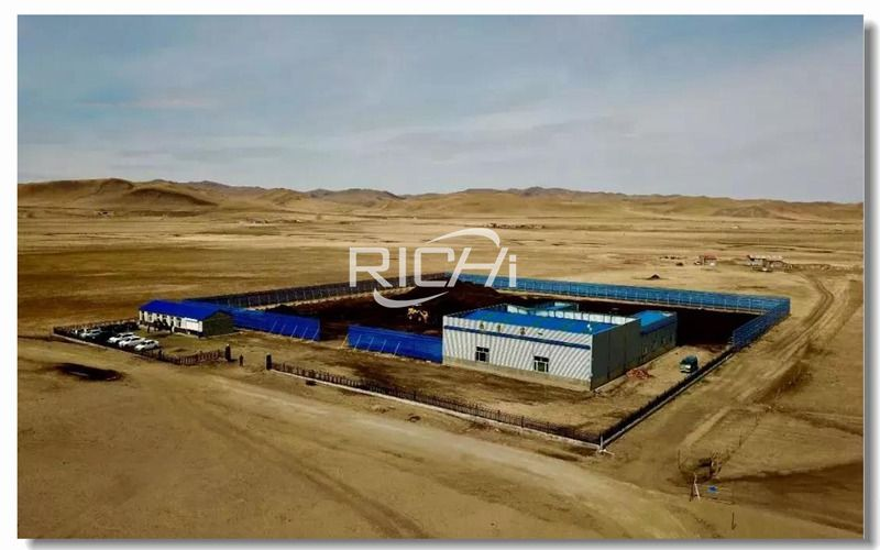 10 tons/hour large-scale organic fertilizer pellet production line project turnkey project