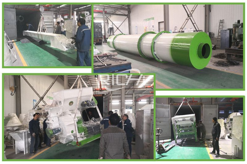 Indonesia customer 2T/H wood pellet production line shipped