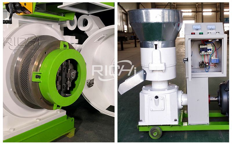 Ring die pellet machine and Flat die pellet mii