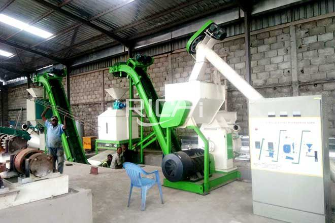 Congo 1-2 t/h wood pellet plant Production Line