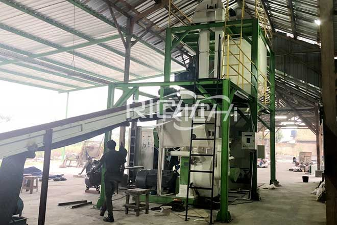 Mexico 10T/H Wood Sawdust Pellet Production Line