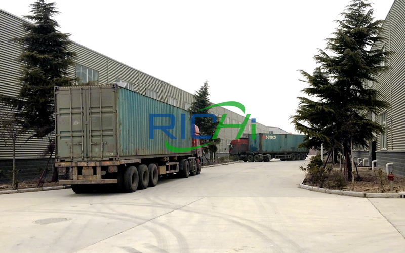 Delivery of wood pellet mill production line equipment